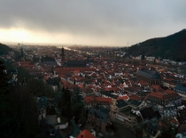 Heidelberg before snowfall