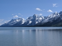 Hello Redditors Here is a view of the Grand Tetons from afar  Grand Teton National Park