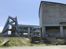 Hello there first time user This is a photo of the Namie Choritsu Ukedo Elementary School Its been abandoned since the  Tohoku earthquake and tsunami Its also abandoned due to its less-than-km proximity to the Fukushima Daiichi Nuclear Power Plant