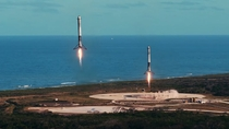 Help - looking for hi res of a similar photo of the double booster landing