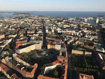 Helsinki Finland from hot air balloon