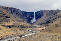 Hengifoss one of the tallest waterfalls in Iceland