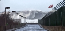 Hercules storm hits Portugal Surfers from all over the world will try to break records this week sorry for poor quality
