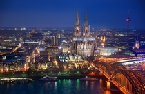 Heres the last photo I got of Cologne Germany before all my equipment was stolen on a train