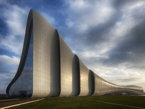 Heydar Aliyev Center  Baku Azerbaijan  xpost from rbizarrebuildings