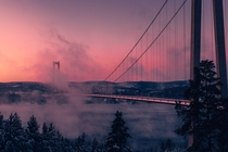 Hgakustenbron  Sweden in the pink and the clouds -By Anders Jildn Simply gorgeous