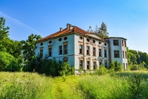 Hidden and apparently forgotten Manor House succumbing to nature in northern Poland