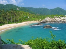 Hidden Beach in Tayrona National Park Santa Marta Colombia -  OC