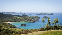 Hidden beaches in the Bay of Islands New Zealand