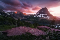 Hidden Lake Glacier National Park during an incredible sunset  by JayKlassy