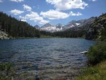 Hidden lake in the Sierra Nevada Mountains