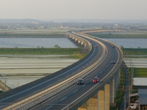 Higashi-Kant Expressway over the Tone River