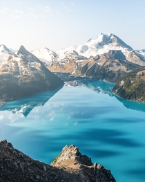 High above Garibaldi Lake Canada This hike begins  minutes from Vancouver and is about - hours one way