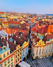 High above Old Town Prague