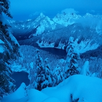 High above the alpine lake wilderness Washington State