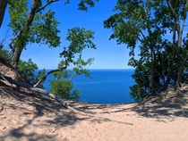 High above the lake on Sleeping Bear Dunes MI