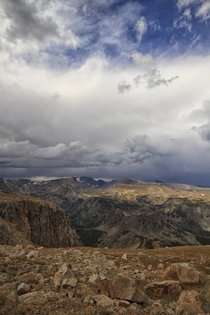 High atop the Beartooth Mountains Montana