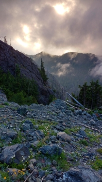 High camp morning before final ascent The Brothers Olympic Peninsula WA  OC