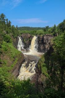 High Falls on Pigeon River Grand Portage MN  x