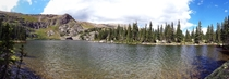 High Mountain Lake Near the Continental Divide in Colorado