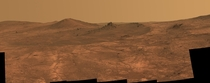 High res image of a rock spire on the surface of Mars taken by Curiosity curtesy of NASA