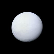High resolution photo of Saturns moon Enceladus