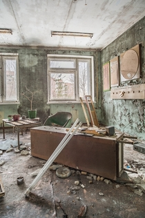 High School Classroom in Prypyat