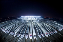 High-speed bullet train depot in China