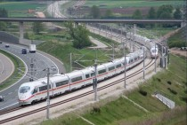 High speed trains between Nuremberg and Ingolstadt Germany