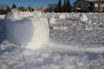 High winds and wet snow caused a natural phenomenon called snow rollers Vegreville Alberta x