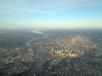 Higher resolution photo of aerial view of Richmond Va