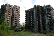 Highland Towers Malaysia Abandoned since  because one of the towers collapsed due to water leakage This photo was taken in  Said to be haunted