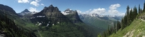 Highline Trail Panorama Glacier National Park Montana July   x-post with rglacier