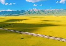 Highspeed train in Qinghai China