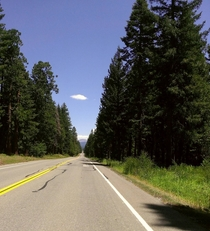 Highway  between Redding CA and Lassen Volcanic National Park