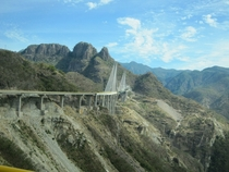 Highway bridge on the way from Mazatlan to Durango Mexico