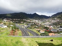 Highway exit and entrances tunels and bridges in Machico Madeira Island