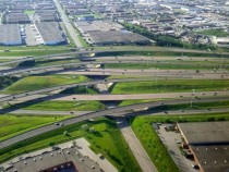 Highway  Merging With Highway  in Mississauga Ontario Canada
