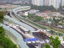 Highway noise barriers Hong Kong