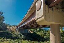 Highway overpass above the Green River in Kent Washington
