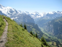 Hike from Wengen to Grindelwald in Switzerland from July