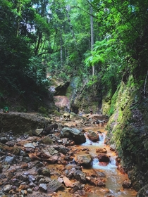 Hike to get to Las Golondrinas Valle de ngeles Angels Valley located  mins away from Tegucigalpa Honduras