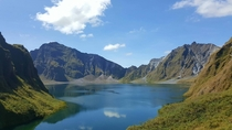 Hiked for an hour for this view Mt Pinatubo Crater Lake Philippines