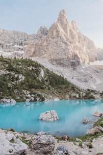 Hiked  hours to get this shot of Lago di Sorapis in Belluno Italy