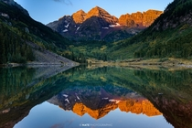 Hiked to Maroon Bells CO for sunrise Battery died A stranger let me take a few shots with my memory card in his camera Thanks stranger
