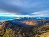 Hiked to the tallest point Telescope Peak in Death Valley today - Heres a view of the Sierras