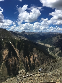 Hiked to the top of a Mountain in Colorado that overlooked the town of Silverton last year