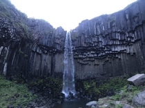 Hiked up to Svartifoss a waterfall in my home country of Iceland Also known as the Minecraft waterfall