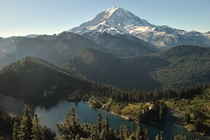 Hiked up Tolmie Peak this morning Best spot to view Mt Rainier Ive found