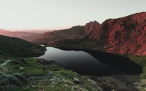 Hiking alone on a morning in total darkness let to witnessing one of the best sunrises of my life Mount Snowdon North Wales